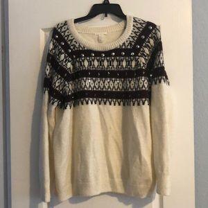 H&M embellished sweater